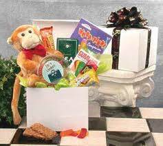 get better care package feel better care package hang in there theme with monkey puzzles
