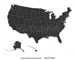 map usa with names map usa state names stock vector 362372684