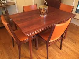 Dining Table And Six Chairs Modern Teak Rosewood Refractory Table Six Chairs Epoch