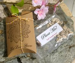 sunflower seed wedding favors let grow wedding favors with sunflower seeds set of 25