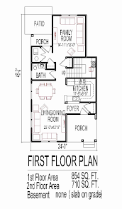floor plans for narrow lots unique stock 2 story house plans narrow lots home inspiration