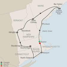 Acadia National Park Map Fall Foliage U0026 New England Tour Globus