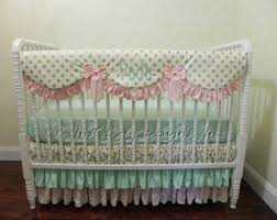 Pink And Gold Baby Bedding Baby Crib Bedding Set Carissa Pink And Gold Baby