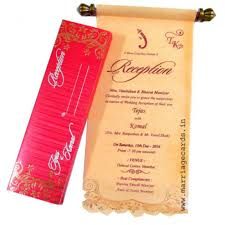 indian wedding invitations scrolls royal scroll wedding cards indian wedding invitation cards