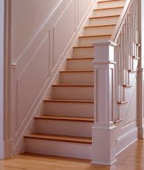 Wainscoting On Stairs Ideas Wainscot Solutions Angled Raised Panel La Casa Pinterest
