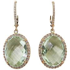 amethyst drop earrings zoccai amazing green amethyst gold drop earrings for sale at 1stdibs