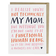 mothers day cards not technically my s day card emily mcdowell studio