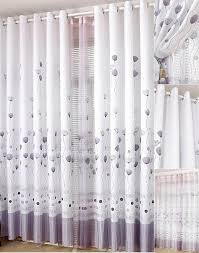 Lilac Curtains Cheap Curtains In White And Lilac Color For Room