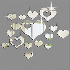 Home Decoration Wall Stickers Ikevan 1set Acrylic Art 3d Mirror Flower Wall Stickers Diy Home