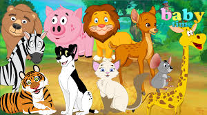 learning wild animals for kids teaching animals video for