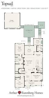Arthur Rutenberg Homes Floor Plans Topsail 1322 Manor Lot Plan