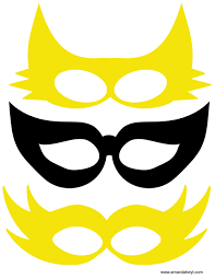 photo booth prop masks from yellow marvel girl inspired printable photo booth