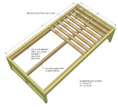 woodworking plans for a platform bed with drawers custom