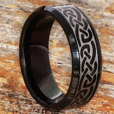 Black Wedding Rings by 20 Celtic Tungsten Rings 50 Off Tungsten Celtic Wedding Bands
