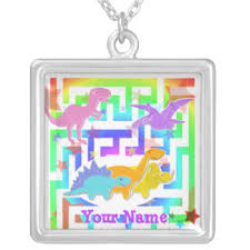 Necklace With Your Name Maze Necklaces U0026 Lockets Zazzle