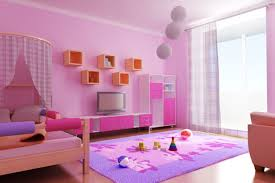 samples of children room paint bedroom rukle pink wall with purple