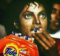 Meme Eating Popcorn - michael jackson eating tide pods like popcorn tide pods meme
