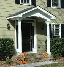 simple portico for clapboard sided home designed by georgia front
