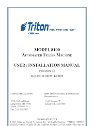 triton model 8100 manual electromagnetic interference