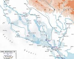 Ww1 Map Of Wwi Mesopotamia 1914