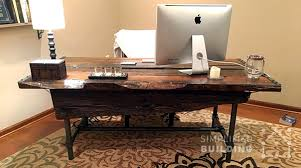 Diy Rustic Desk Diy Rustic Desk Plans To Build Your Own Simplified Building