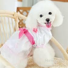 Dog Wedding Dress Unique Princess Bowknot Lace Pet Dog Wedding Dress