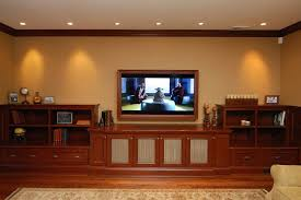 Basement Media Room Basement Media Room Contemporary With Dark Wood Wine Refrigerators