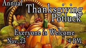 annual thanksgiving pot luck dinner sidelines sports bar