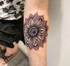 the 25 best sunflower mandala tattoo ideas on pinterest