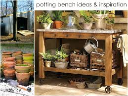 Backyard Bench Ideas by Oak Wood Smith Hawken Potting Bench For Garden Furniture Design