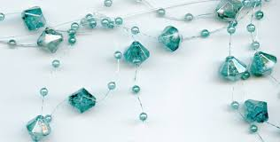 iridescent turquoise beaded garland