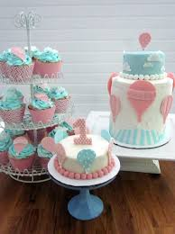 Darlin U0027 Designs Air Balloon Cake And Cupcakes First