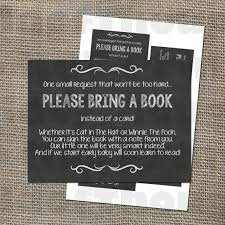 bring a book instead of a card insert for baby shower