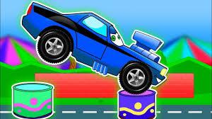 monster truck for children cartoon street vehicles for children monster truck for kids in animation
