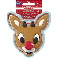 rudolph the nosed reindeer cookie cutter set wilton