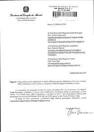 presidenza consiglio dei ministri pec luca zaia domani si firma per l autonomia 繹