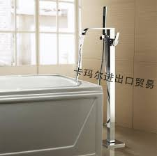 Bathtubs Faucets 2017 Modern Floor Stand Bathtubs Faucets Square Spray Water Mixers
