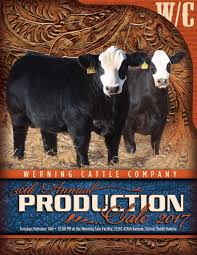 fifth avenue catalog sales werning cattle sale catalog 2017 by eberspacher enterprises issuu