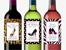wine birthday stiletto high heel shoe wine bottle labels favors large u2013 pavia