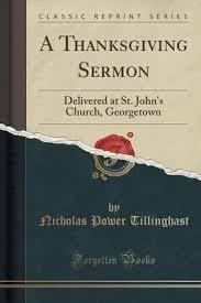 a thanksgiving sermon nicholas power tillinghast 9781333645878