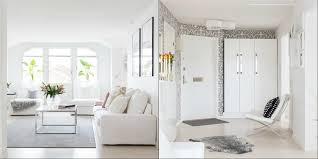 All White Home Interiors Contemporary White Apartment Design In Sweden Home Interior
