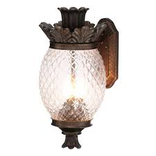 Pineapple Wall Sconce Monteaux Lighting Wall Mount 21 In Bronze Outdoor Pineapple Coach