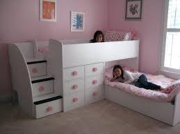 beds boys girls love trundles kids loft beds slide stairs