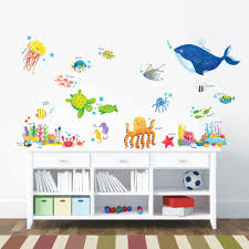 decowall dw 1311 under the sea kids wall stickers wall decals peel decowall dw 1311 under the sea kids wall stickers wall decals peel and stick removable wall stickers for kids nursery bedroom living room amazon co uk