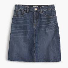denim skirt denim skirt with hem women denim j crew