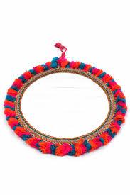 boho crochet boho crochet tassel mirror accompany