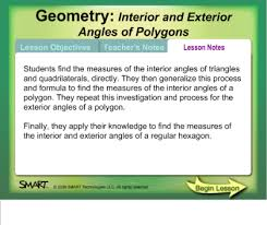Formula For Interior Angles Of A Polygon Smart Exchange Usa Interior And Exterior Angles Of Polygons
