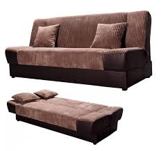 Click Clack Sofa Bed by Fabric U0026 Pu Click Clack Sofa Bed Comfortable With Storage Sofa