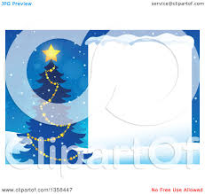 clipart of a silhouetted christmas tree with a glowing star next