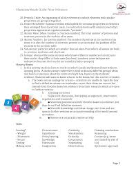 year 9 study guide chemistry docsity
